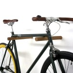 Wooden cabinet for hanging bicycles