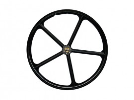BLACK REAR WHEEL WITH 5 SPOKES