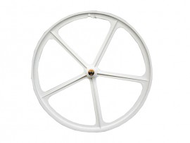 WHITE FRONT WHEEL WITH 5 SPOKES