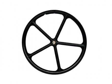 BLACK FRONT WHEEL WITH 5 SPOKES