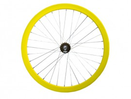 YELLOW FIXIE REAR WHEEL
