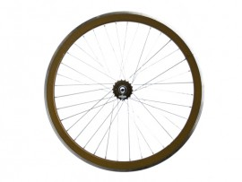 METALLIC BROWN REAR FIXIE WHEEL
