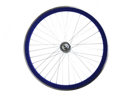 METALLIZED BLUE FIXIE FRONT WHEEL