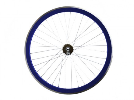 BLUE METALLIC REAR WHEEL