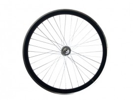 MATT BLACK FIXIE FRONT WHEEL