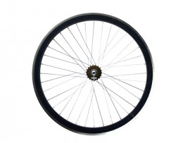 MATT BLACK FIXIE REAR WHEEL