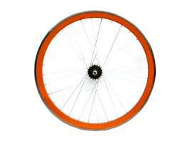 ORANGE FIXIE REAR WHEEL