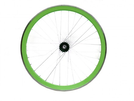 GREEN FIXIE REAR WHEEL