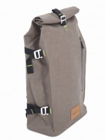 Beige Messenger Backpack