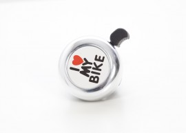bell for bike I love my bike silver